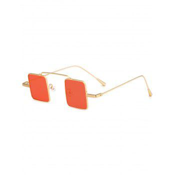 UV Protection Full Frame Squared Sunglasses - GLOD FRAME + ORANGE LENS GLOD FRAME / ORANGE LENS