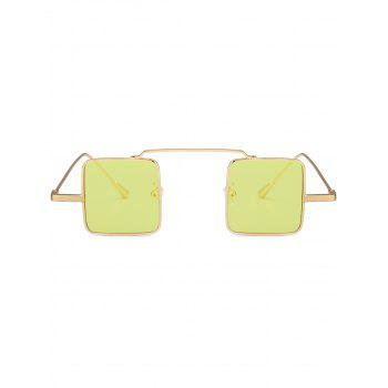 UV Protection Full Frame Squared Sunglasses - LIGHT YELLOW