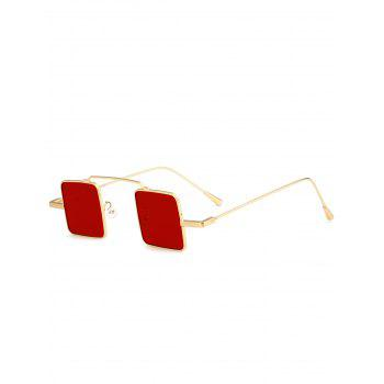 UV Protection Full Frame Squared Sunglasses - GOLD FRAME + RED LENS GOLD FRAME / RED LENS