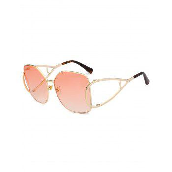Vintage Hollow Out Decorated Full Frame Oversized Sunglasses - LIGHT PINK LIGHT PINK