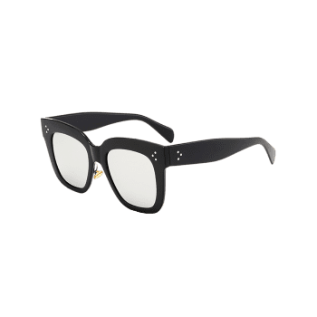 Outdoor Anti UV Full Frame Square Sunglasses - BLACK/MERCURY