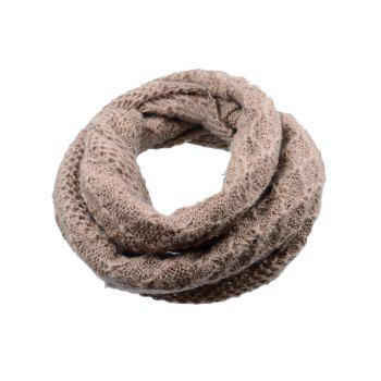 Soft Rhombus Pattern Crochet Knitted Scarf - BROWN BROWN