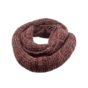Vintage Color Splice Crochet Knitted Warm Scarf -  DEEP BROWN