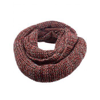 Vintage Color Splice Crochet Knitted Warm Scarf - DEEP BROWN DEEP BROWN