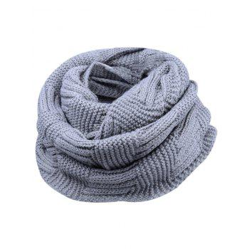 Soft Crochet Knitted Chunky Scarf - GRAY GRAY
