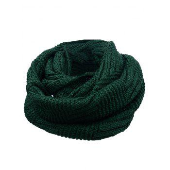 Soft Crochet Knitted Chunky Scarf - GREEN GREEN