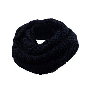 Outdoor Thick Ribbed Knit Winter Scarf - YELLOW AND BLACK YELLOW/BLACK