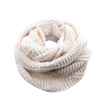 Outdoor Thick Ribbed Knit Winter Scarf - BEIGE BEIGE