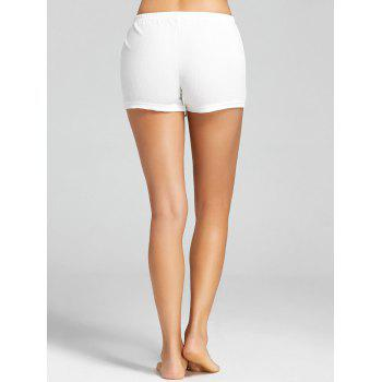 Openwork Boyleg Safety Panties - WHITE L