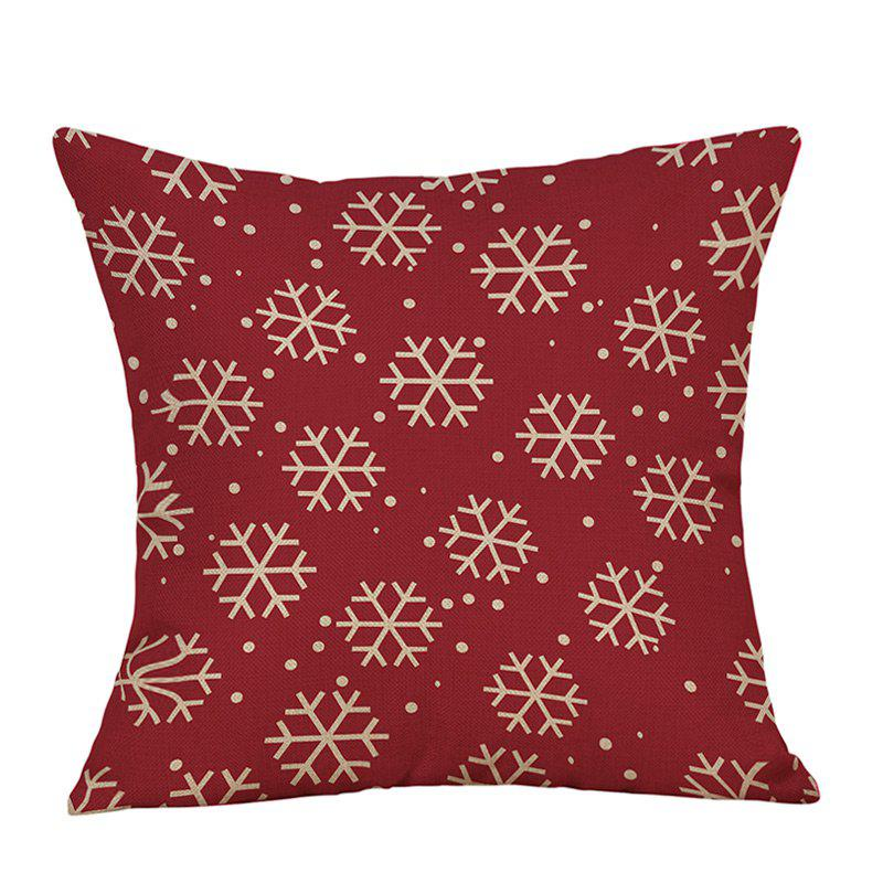 Christmas Snowflakes Print Sofa Linen Pillowcase snowy christmas gifts print linen sofa pillowcase