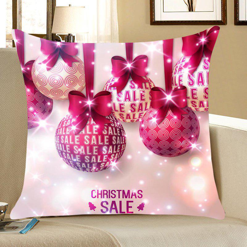 Christmas Bowknot Balls Printed Throw Pillow Case christmas ribbons gift cushion throw pillow case