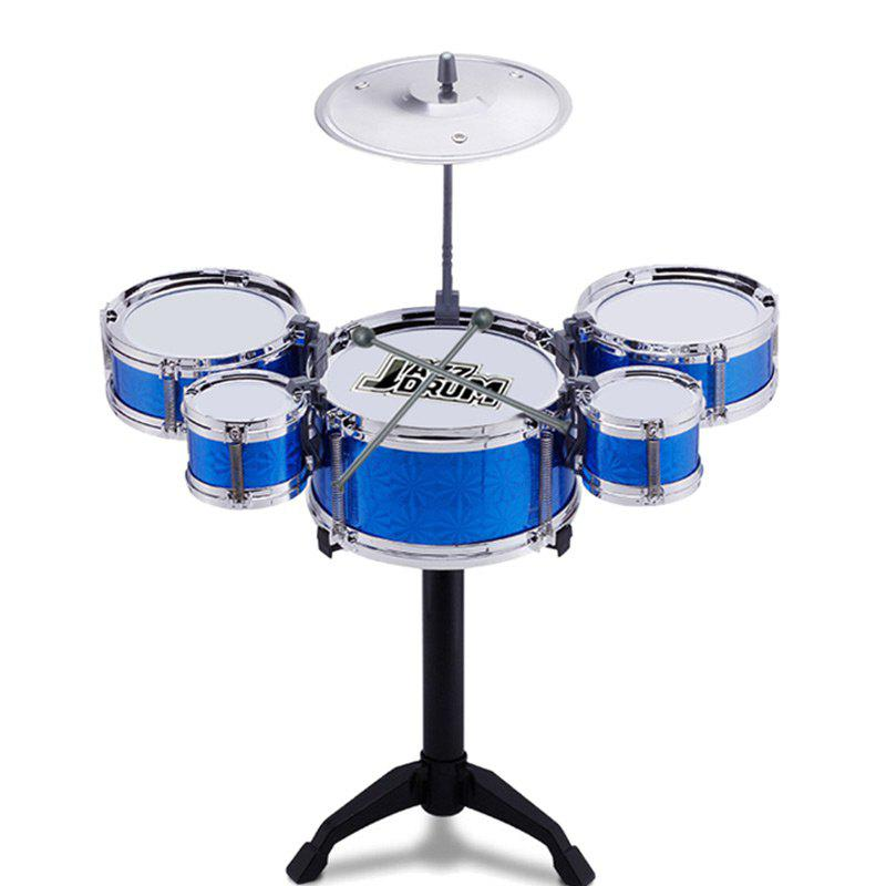 Mini Kids Drum Set For Educational Toy Musical Learning - BLUE