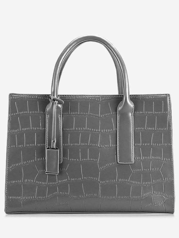 Crocodile Print PU Leather Tote Bag 100% real genuine crocodile skin women bucket bag crocodile leather tote shoulder handbag crocoidle skin lady business bag