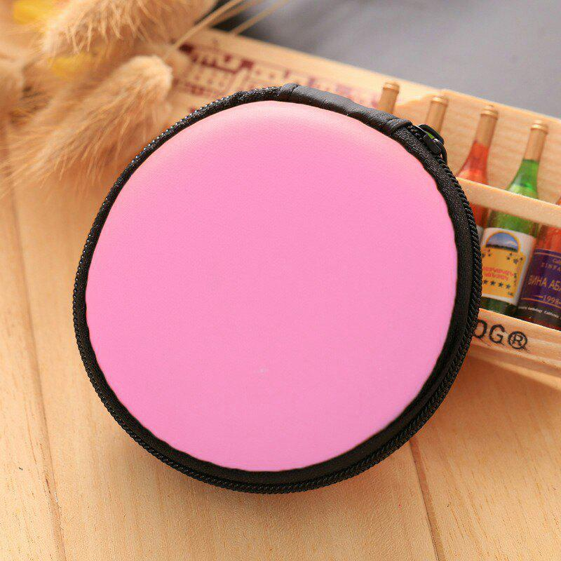 Earphone Round Storage Case - PINK