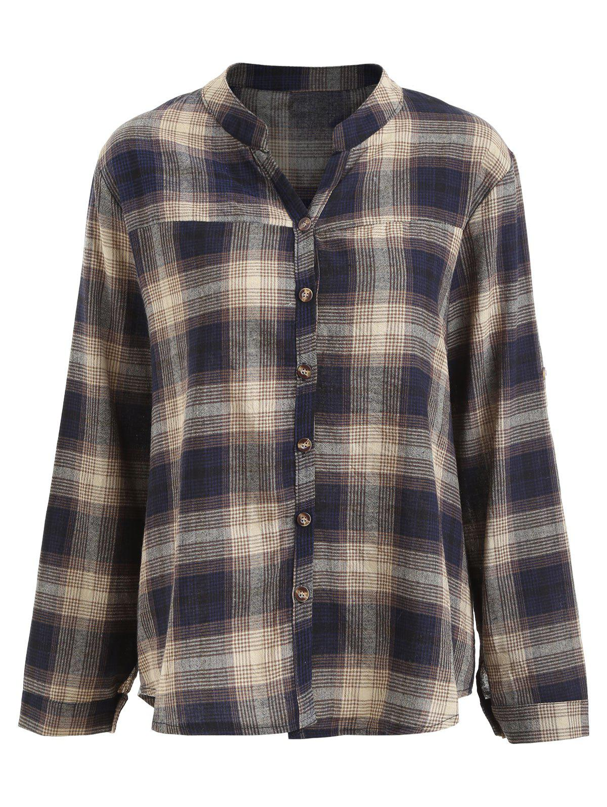 Button Up Plus Size Plaid Shirt for free post ac3000 series air filter combinations safe excellent brand fifteen years of only do the machine mask