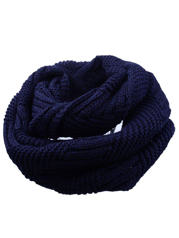 Soft Crochet Knitted Chunky Scarf - CADETBLUE