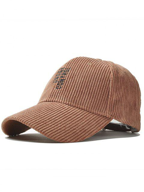 Outdoor Vertical Letter Pattern Embroidery Baseball Cap - COFFEE