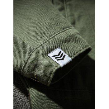 Chest Pocket Camouflage Panel Jacket - ARMY GREEN XL