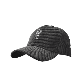 Outdoor Vertical Letter Pattern Embroidery Baseball Cap - BLACK