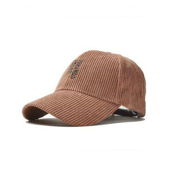 Outdoor Vertical Letter Pattern Embroidery Baseball Cap - COFFEE COFFEE