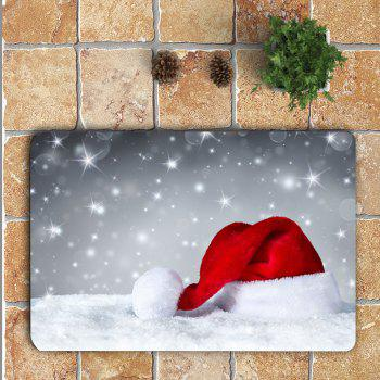 Snow Santa Hat Patterned 3Pcs Bath Toilet Mat Set - COLORFUL