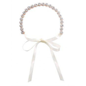 Sparkly Rhinestone Ribbon Wedding Hair Accessory -  ROSE GOLD