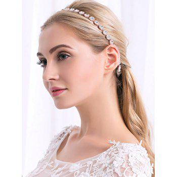 Sparkly Rhinestone Ribbon Wedding Hair Accessory - ROSE GOLD ROSE GOLD