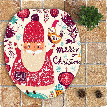 3Pcs Santa Claus Gifts Pattern Bath Toilet Mat Set - COLORFUL