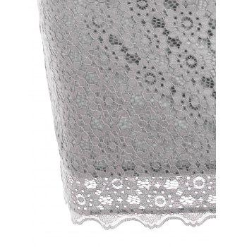 Cut Out Lace Bodycon Party Dress - LIGHT GRAY LIGHT GRAY