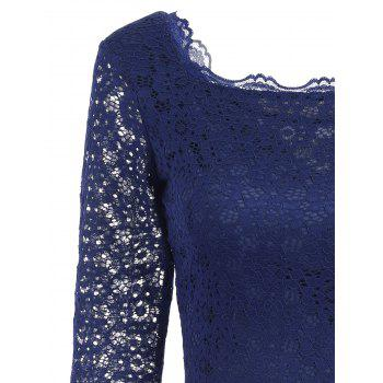 Cut Out Lace Bodycon Party Dress - PURPLISH BLUE PURPLISH BLUE