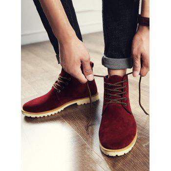 Low Heel High Top Casual Shoes - RED 39