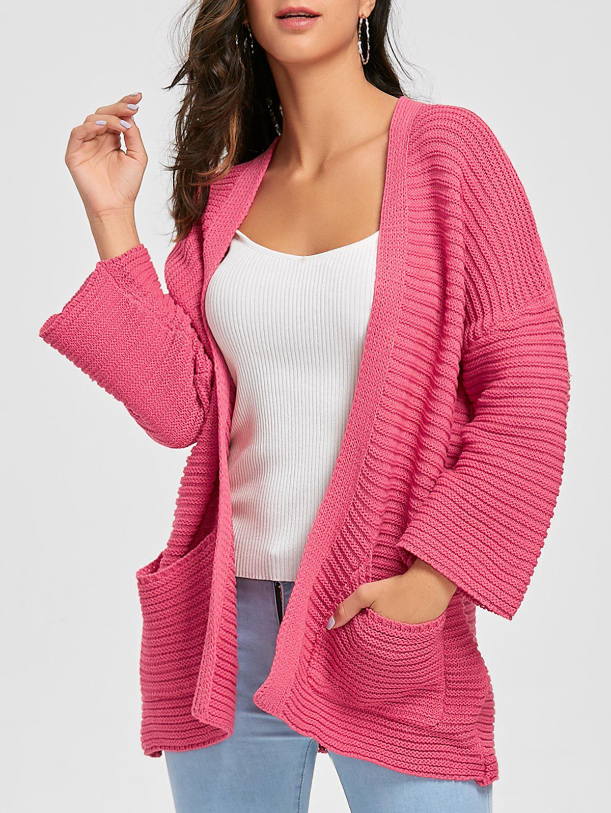 Drop Shoulder Open Front Knit Cardigan shyam kumar mishra antimicrobial drug resistance in lower respiratory tract infection