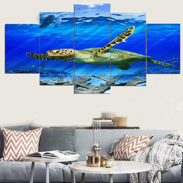Sea Turtle Unframed Canvas Split Paintings seaside sunset sandbeach printed split unframed canvas paintings