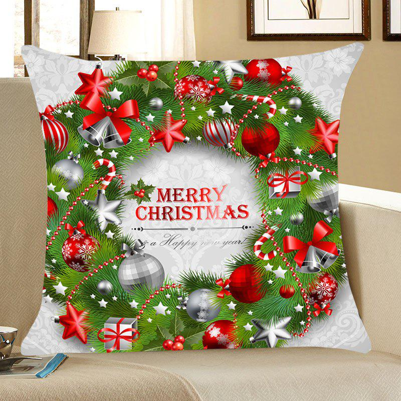 Christmas Garland Printed Throw Pillow Case happy birthday printed throw pillow case