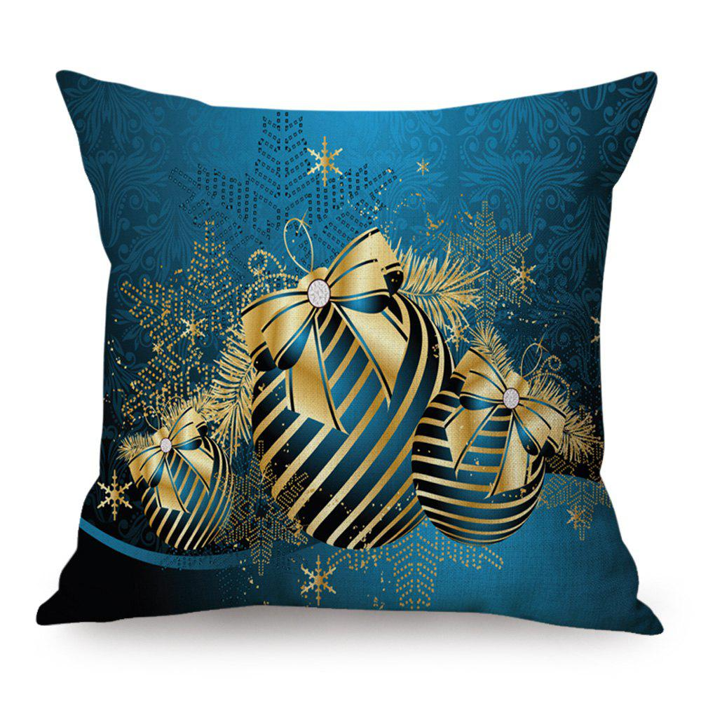 Christmas Balls Print Linen Throw Pillowcase number eight print cotton linen throw pillowcase