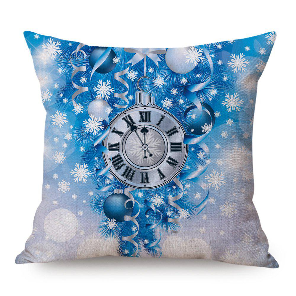 Christmas Clock Ball Printed Linen Decorative Pillow Case handpainted pineapple and fern printed pillow case
