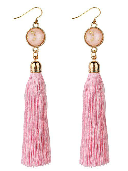 Long Tassel Embellished Boho Style Drop Earrings long tassel embellished boho style drop earrings