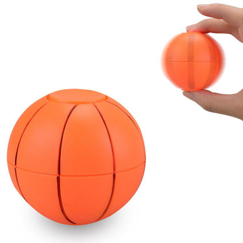 Spinner Tournant en Forme de Ballon de Foot ou de Basket Jouet à Triturer - Orange