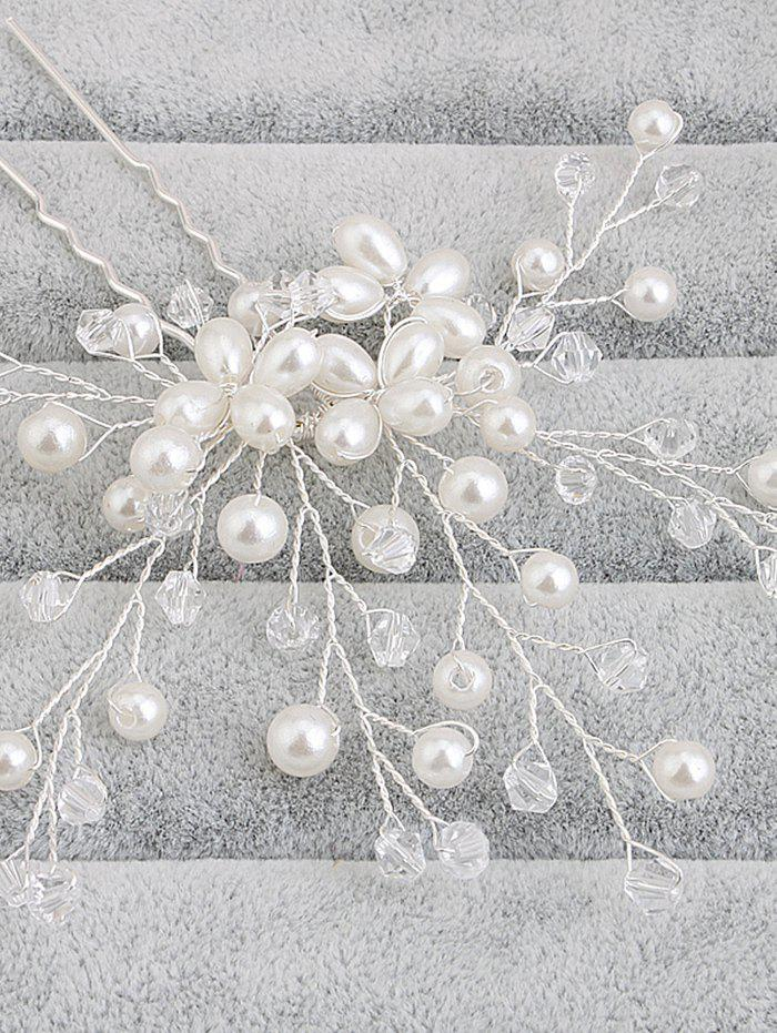 Faux Pearl Tree of Life Wedding Hairpin - WHITE