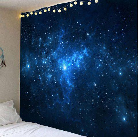 Starry Night Patterned Hanging Wall Art Tapestry - BLUE W79 INCH * L71 INCH