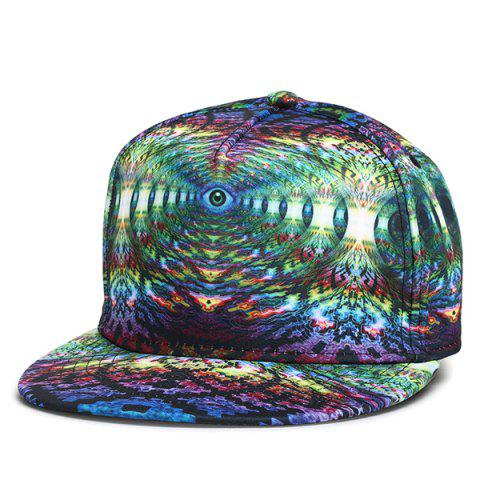 3D Graphic Printing Hip-Hop Snapback Cap - SEA BLUE