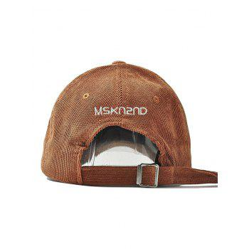 Outdoor Letter Pattern Embroidery Corduroy Baseball Cap - CAMEL