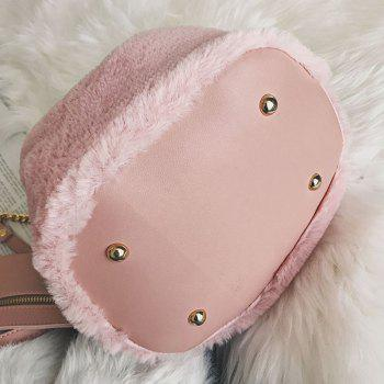 Faux Fur Crossbody Bag - PINK