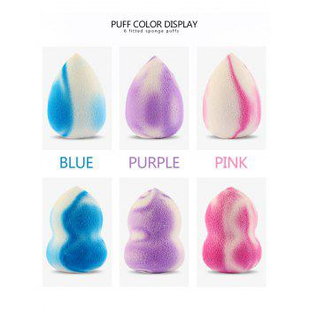 6Pcs Makeup Foundation Beauty Sponge Puff Set - COLORFUL