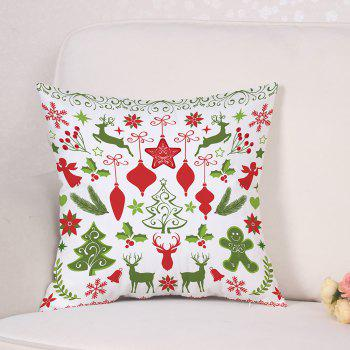 Christmas Theme Pattern Linen Sofa Pillowcase - COLORMIX W18 INCH * L18 INCH