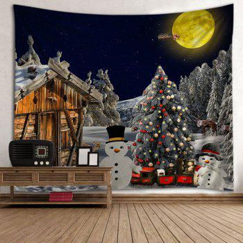 Christmas Forest House Print Tapestry Wall Hanging Art - COLORMIX COLORMIX