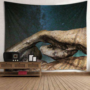 Galaxy Stone Print Tapestry Wall Hanging Art - COLORMIX W91 INCH * L71 INCH