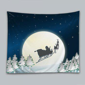 Christmas Night Moon Print Tapestry Wall Hanging Art - COLORMIX W91 INCH * L71 INCH