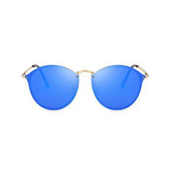 Cat Eye Anti UV Mirrored Sunglasses -  DEEP BLUE