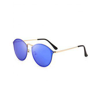 Cat Eye Anti UV Mirrored Sunglasses - DEEP BLUE DEEP BLUE